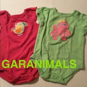 LOT OF 2 BABY GIRL ONESIES 6-9 MONTHS